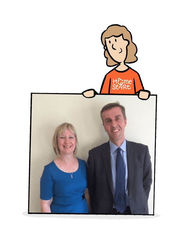 Andrew Selous Supports Home-Start Charitable Work